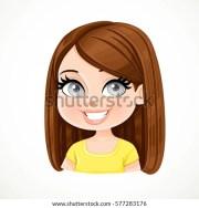 beautiful brunette girl dark chocolate