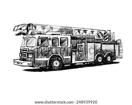 Cartoon Fire Truck Engine Cartoon Trailer Wiring Diagram