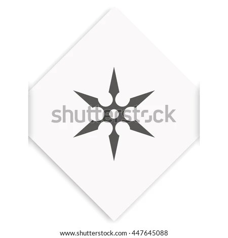 Compass Illustration Each 360 Degrees Marked Stock Vector
