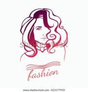 beauty female face logo design
