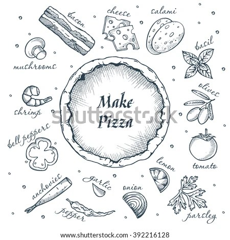 Pizza Drawing Stock Images, Royalty-Free Images & Vectors