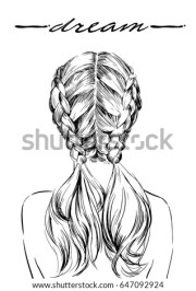 french braid stock royalty-free