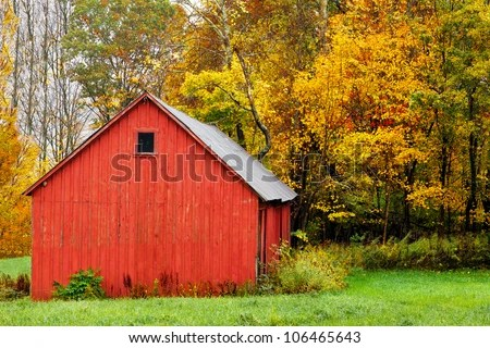 Old Windmill In Fall Grass Wallpaper Vintage Red Barn Stock Images Royalty Free Images
