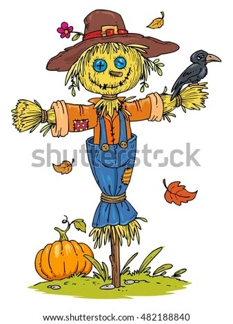 scarecrow stock royalty-free
