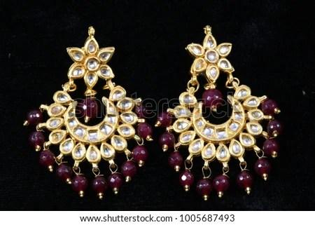 Beaded Earrings Stock Images, Royalty