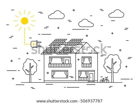 Photovoltaic System Stock Vectors, Images & Vector Art