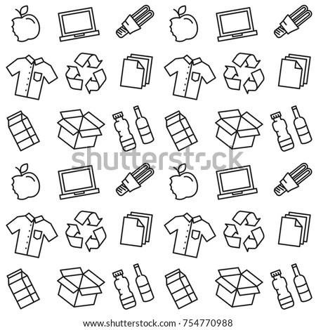 Recycle Vector Illustration Recyclable Things Clothes