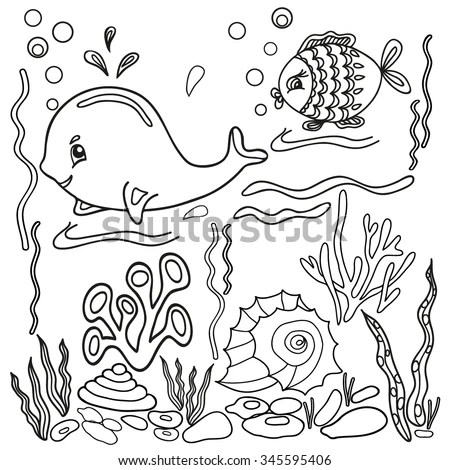 Sea Animal Finger Puppets Coloring Coloring Pages