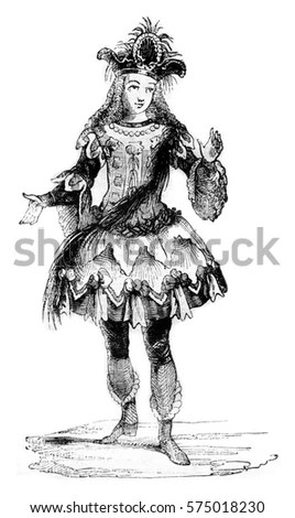 18th Century Costume Old Illustration By Stock Photo