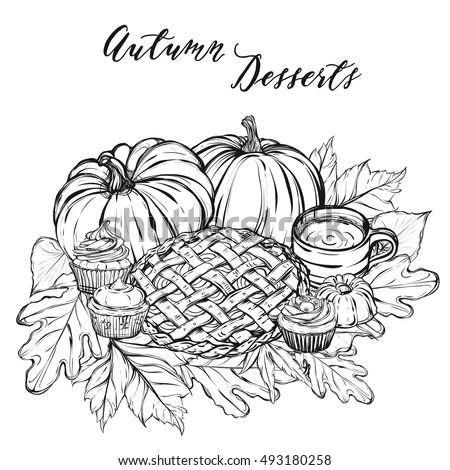 Retro Barn Harvest Black White Vector Stock Vector