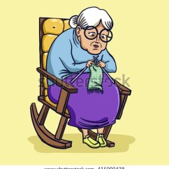 Rocking Chair Cane Front Porch Chairs Made In Usa Vector Illustration Grandma Old Lady On Stock 415000438 - Shutterstock