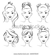 hair bun stock royalty-free