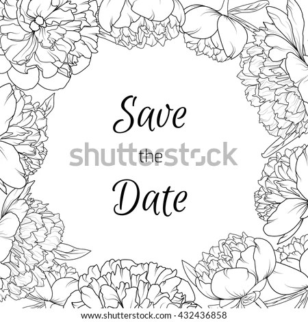 Wedding Event Invitation Card Template Exotic Stock Vector