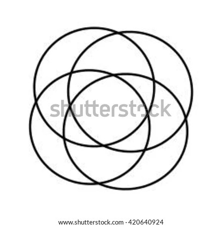 Decorative Circle Black Lines Stock Vector 689316970