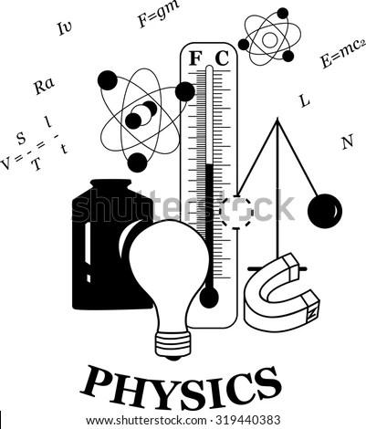 Physics Emblem Good Combination Famous Physical Stock