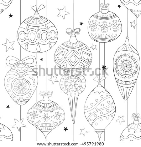 Collection Hand Drawn Christmas Wreaths Fir Stock Vector
