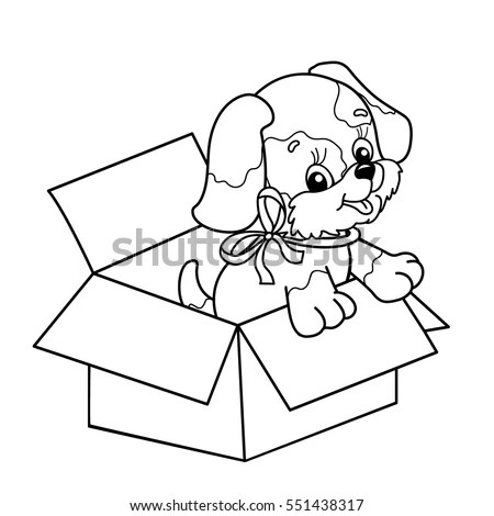 Dog Box Cartoons Stock Images, Royalty-Free Images
