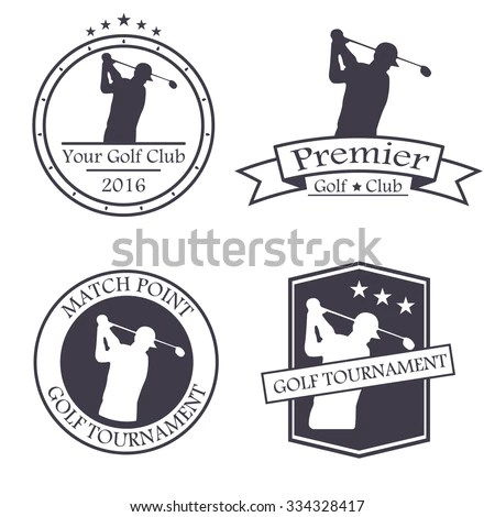 Golf Logo Stock Photos, Royalty-Free Images & Vectors