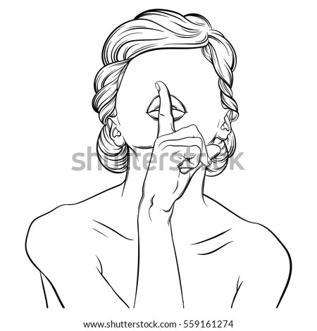 Finger On Lips Stock Images, Royalty-Free Images & Vectors