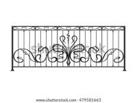 Wrought Iron Balcony Fence Stock Vector (Royalty Free ...