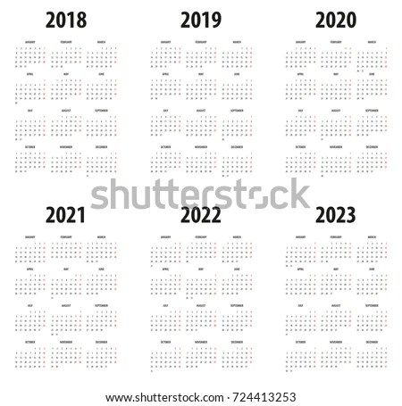 Calendar 2020 Stock Images, Royalty-Free Images & Vectors