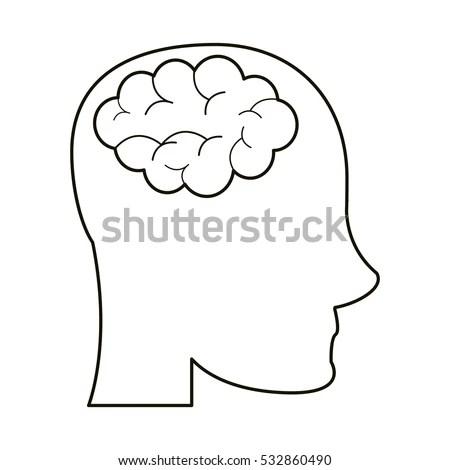 Human Brain Head Image Isolated On Stock Illustration