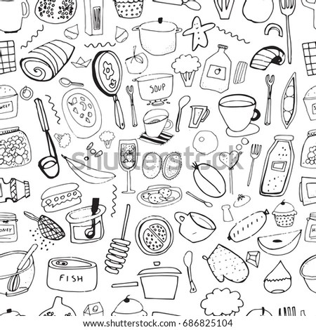 Hand Drawn Doodle Kitchen Appliance Vector Stock Vector