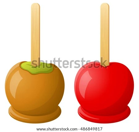 caramel apples stock royalty-free