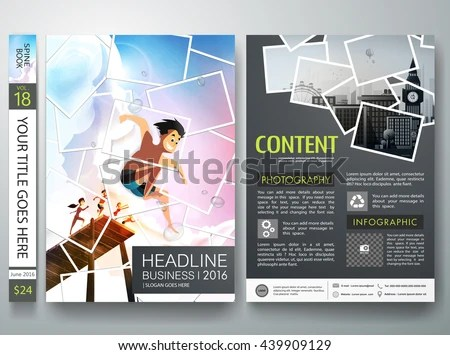 Brochure Design Template Vector Photography Flyers Stock