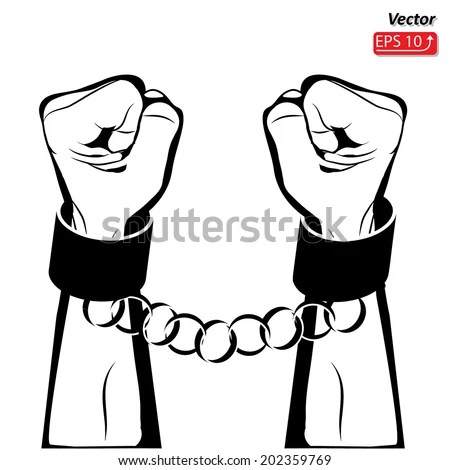 Man Hands Sign Hand Clenched Fist Stock Vector 202359769