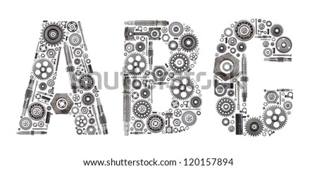 Custom Metal Block Letters Made Out Stock Photo 120157897