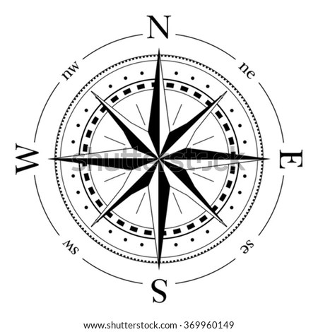 Compass Navigation Dial Highly Detailed Vector Stock