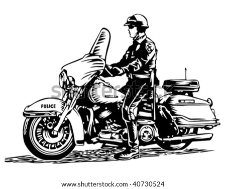 Motorcycle Cop Stock Images, Royalty-Free Images & Vectors