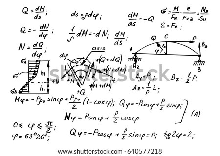 Mathematics Physics Vector Formulas Expressions Layered