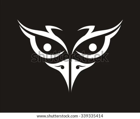 Drawing Cute Wallpaper Cute Silhouette Drawing Owl Face Stock Vector 57147031