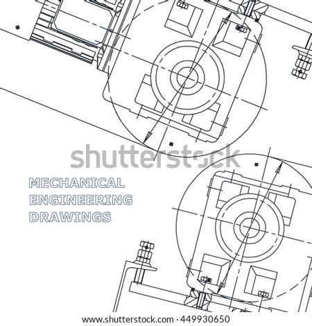 Mechanical Engineering Drawings Engineering Illustration