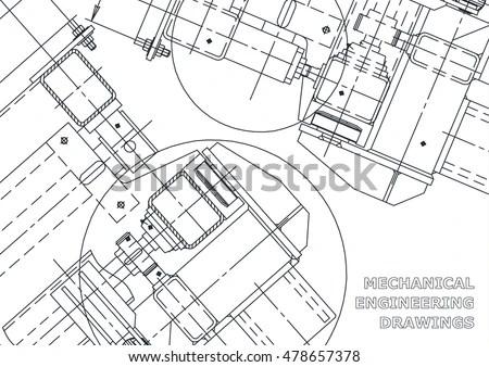 Mechanical Engineering Drawing Blueprints Mechanics Cover