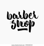 barber ink hand lettering