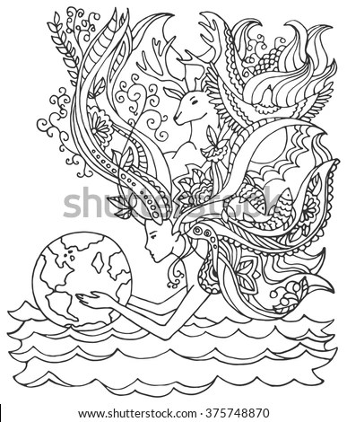 Concept Happy Earth Day April 22 Stock Vector 375748870