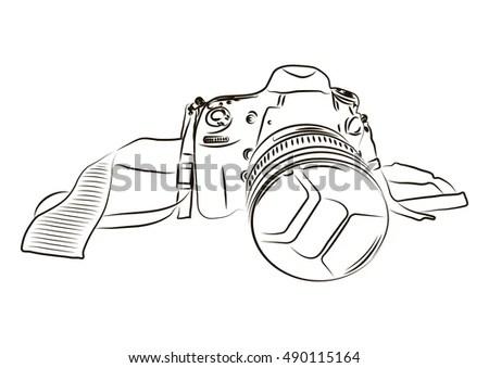 Pair Night Vision Binoculars Eye Hoodscups Stock Vector
