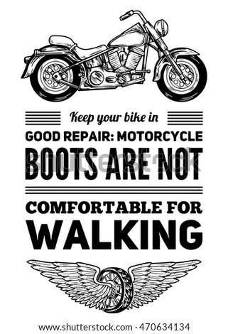 Set Classic Motorcycle Logo Emblems Badges Stock Vector
