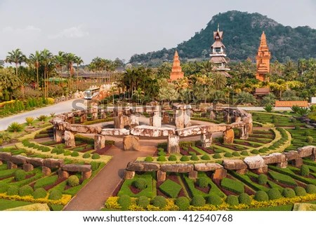 formal garden stock royalty-free