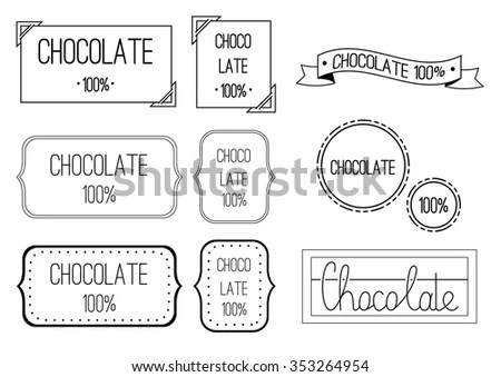 Vector Set Different Kind Coffee Lettering Stock Vector