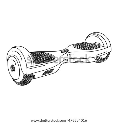 Hoverboard Electric Selfbalancing Scooter Vector