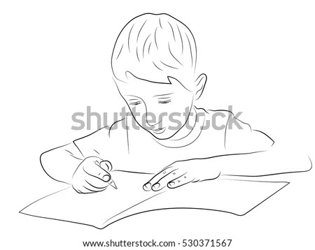 Boy Writing Stock Images, Royalty-Free Images & Vectors