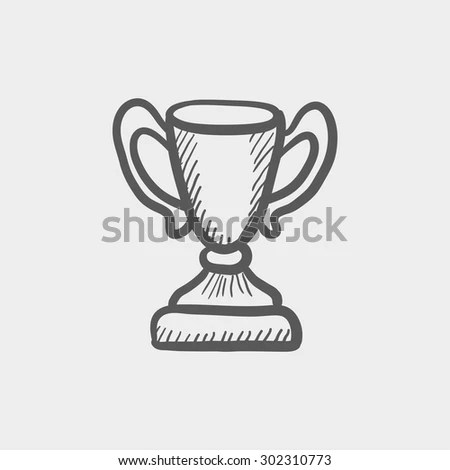 Trophy Sketch Icon Web Mobile Hand Stock Vector 302310773