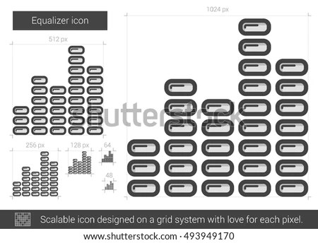 Set Monochrome Icons Korean Alphabet Your Stock Vector