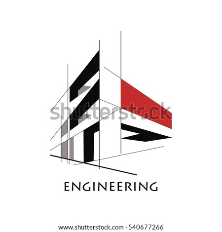 Design Concept Construction Flat Style Lines Stock Vector