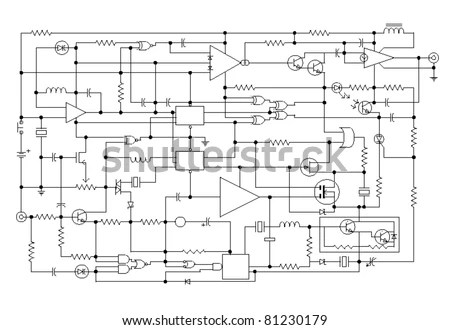 Electronic Diagrams Technical Drawing, Electronic, Free