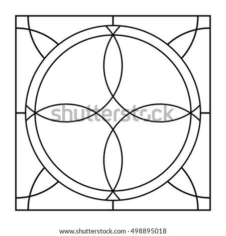 Venus Flower Pentagram Golden Ratio Orbits Stock Vector